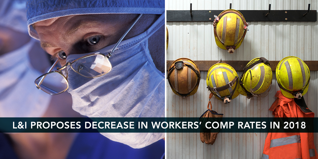 L&I Proposes Decrease in Workers' Comp in 2018