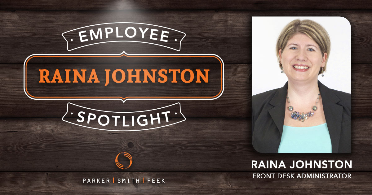 When you call Parker, Smith & Feek HQ, it's Raina Johnston who answers. In this week's Employee Spotlight, she talks about her volunteer work, growing up on Seattle's Capitol Hill, and the impact of sincerity.