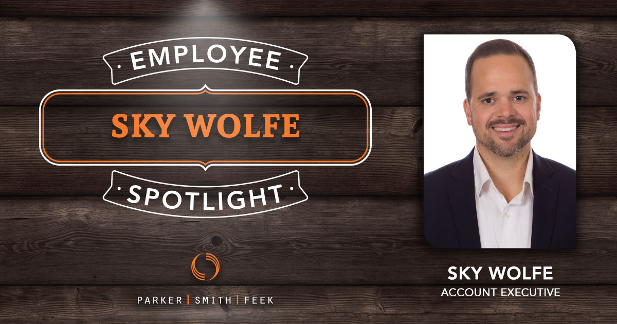 Parker, Smith & Feek Account Executive Sky Wolfe went from small town Idaho to the big city of Portland before discovering the freedom of the insurance industry. Learn more about his love of music, sports, and more in our Employee Spotlight