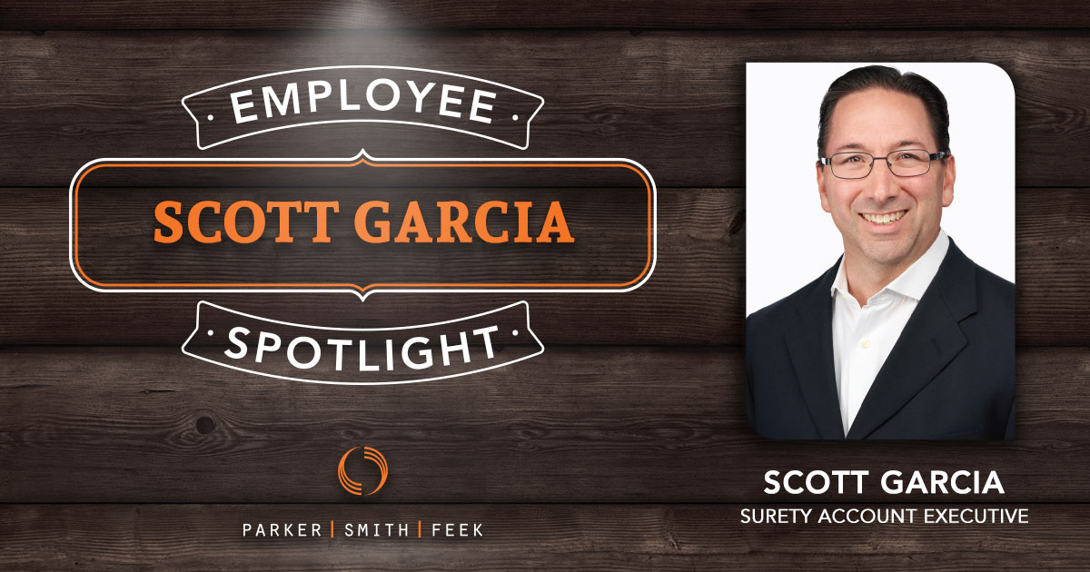 This holiday weekend, take a moment to learn about Parker, Smith & Feek, Inc. Surety Account Executive Scott Garcia, and his drive to make the industry more efficient in our latest Employee Spotlight
