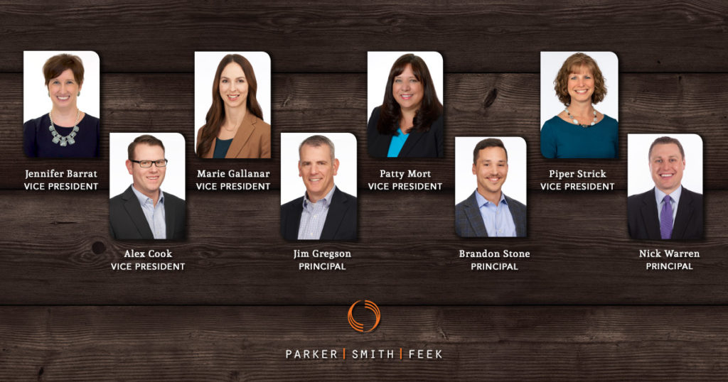 Congratulations to Parker, Smith & Feek's newest principals and officers, who were elected for bringing exceptional leadership and innovation to our organization #thePSFdifference