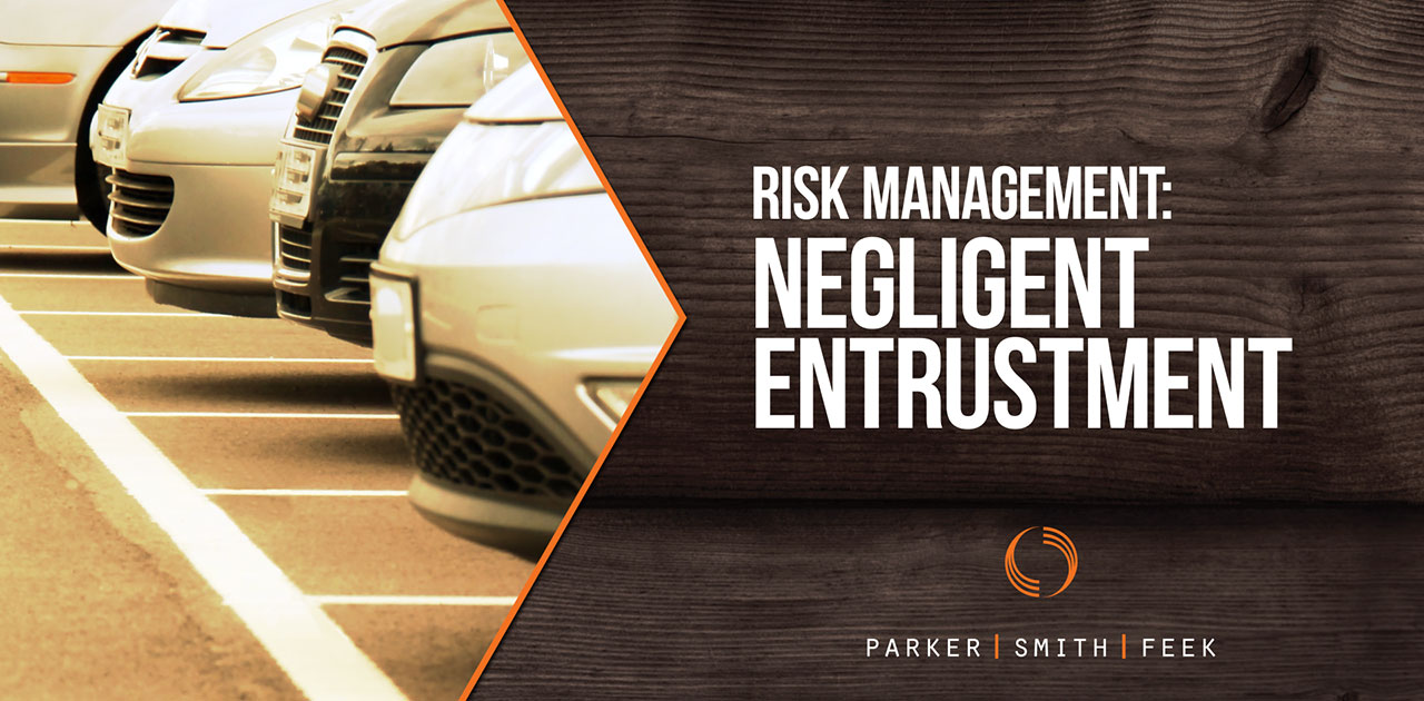 Even if your organization does not have a #fleet of vehicles, related negligent entrustment can still be a considerable risk. Learn more about this type of risk and steps to mitigate it from @Parker, Smith & Feek's Risk Control Specialist, @Kevin Sayler, in our latest vlog