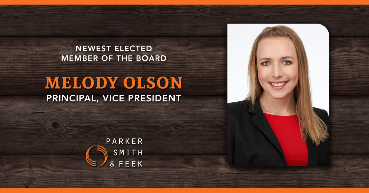 Melody Olson elected to Parker, Smith & Feek Board