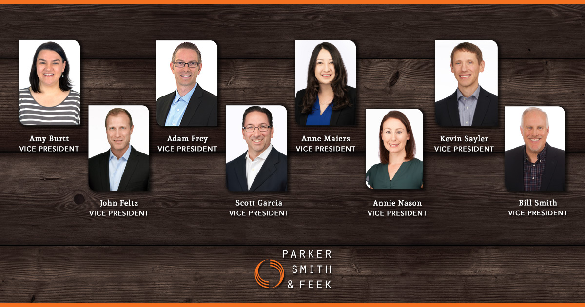 Congratulations to Parker, Smith & Feek's newest officers, who were elected for bringing exceptional leadership and innovation to our organization #thePSFdifference