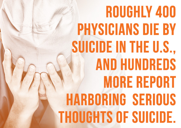 Roughly 400 physicians die by suicide in the U.S., and hundreds more report harboring serious thoughts of suicide.